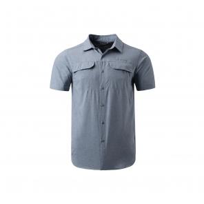 2017春夏新品男款钛金系列降温速干短袖衬衫