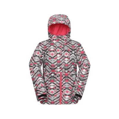 2016秋冬商品 女童 户外炫彩防风夹棉冲锋衣